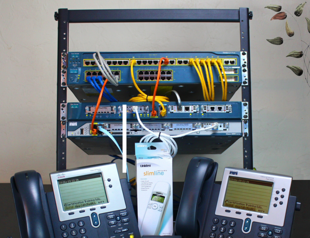 homemade lab voip testing phones network